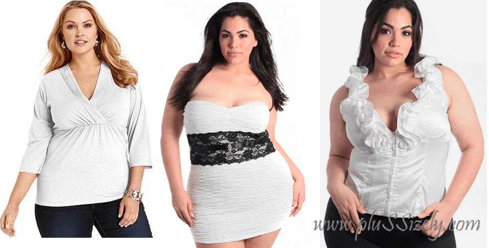 2ed6ff3e134 All White Plus Size Club Dresses: Shining In The Night Best Choice ...