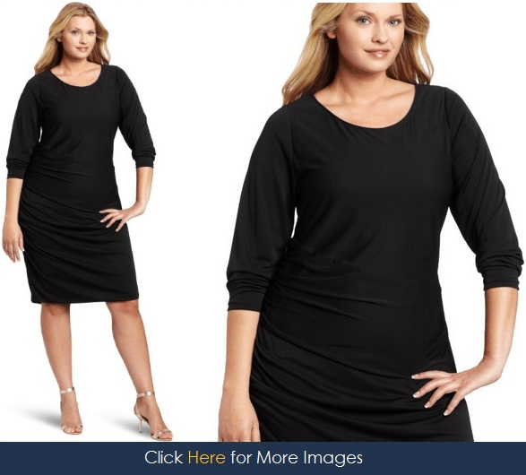 Black dress for curvy women