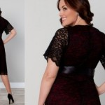 Black dresses for curvy women glam vintage