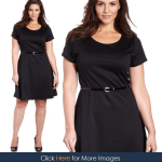 Black dresses with bell sleeves for plus size women