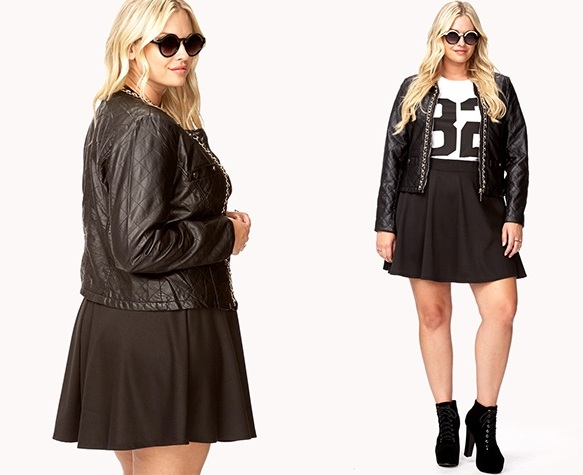 Plus size faux leather jacket for big and tall women image is interesting, isn't it? view Plus Size Clothing for Women to Beautify Your Look for more