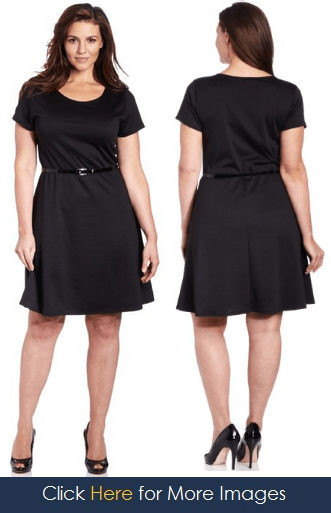 Black bell sleeve dress plus size