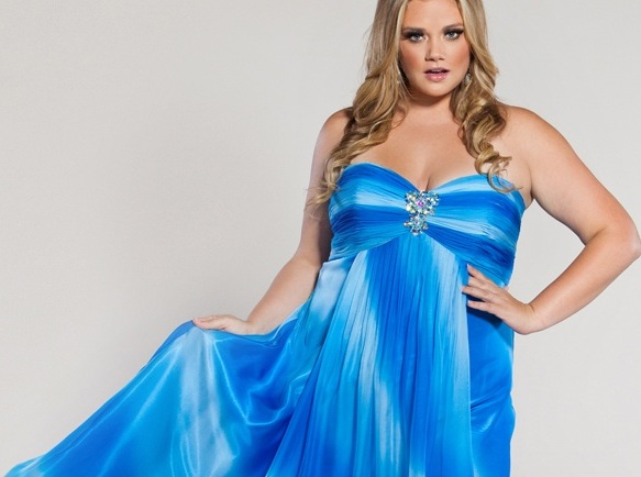 Plus Size Formal Dresses And Gowns High Low And Lady Blue Formal