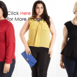 Cheap Plus Size Clothes for Women Red Yellow and Peplum Black