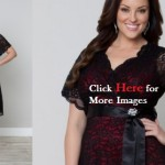 Cheap plus size black dresses Lace Retro Glam