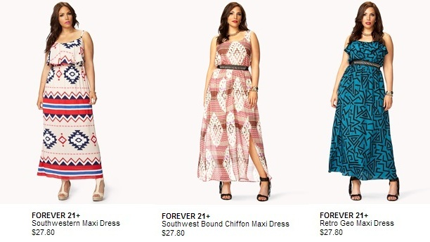 Cheap Plus Size Dresses- Forever21 Collection - www.PlusSizely.com