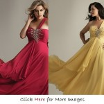 Cheap plus size formal gowns for women Red and Yellow