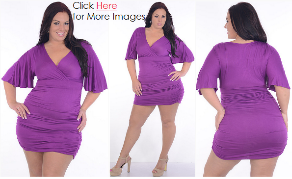Club dresses 2013 for plus size women - draped neckline tops