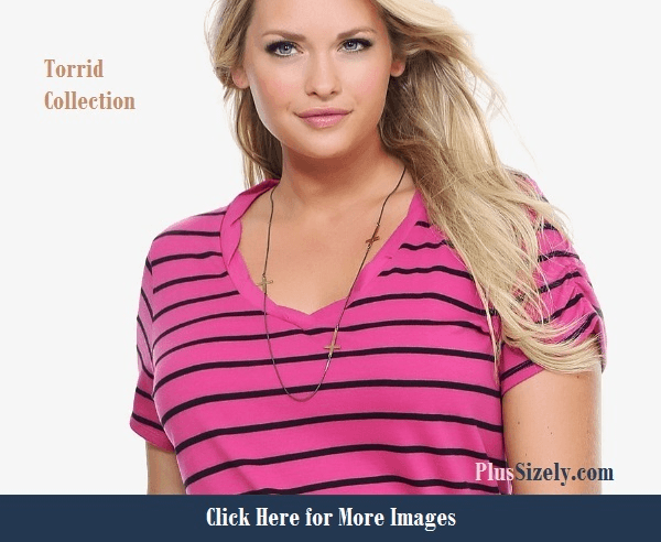 Cute plus size clothes for curvy women pink tshirt