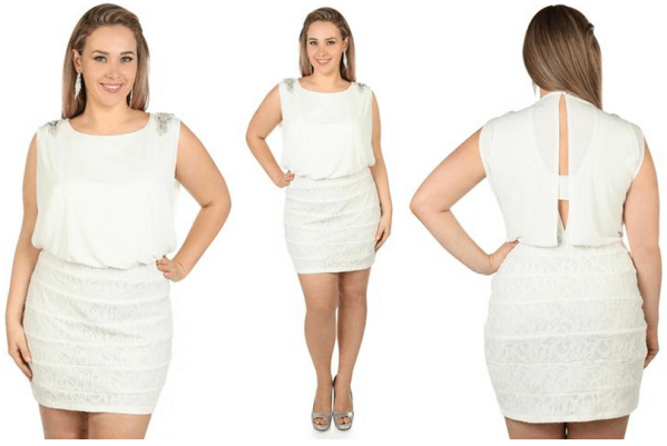 White Plus Size Club Dresses Pure Impression Dress Code For All