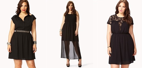 Cheap Plus Size Dresses, Forever21 Collection Long and short ...