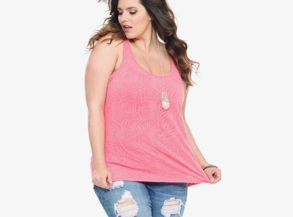 plus size fall fashion 2013, casual and trendy pink tank top fall