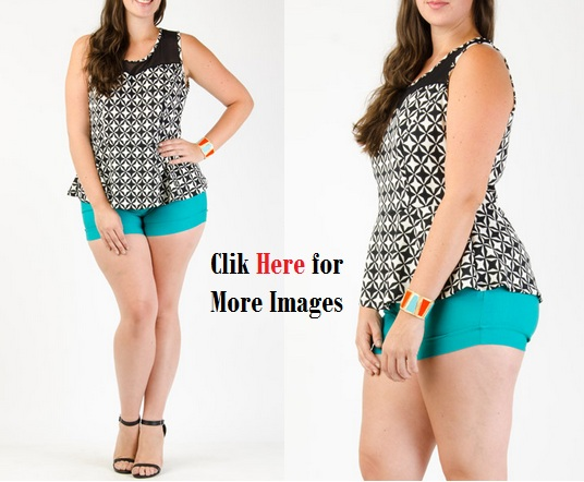 Club Tops Print Pattern for Curvy Women