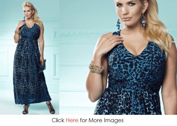 Plus size animal print dress for special occations