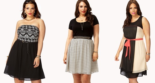 Cheap Plus Size Dresses, Forever21 Collection Plus size ...
