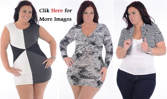 Plus size black and white club dresses