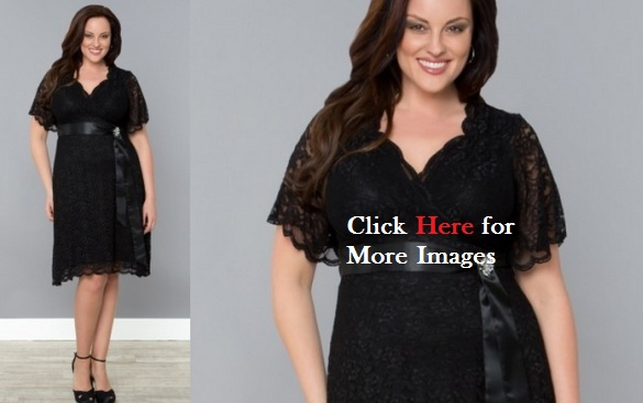 Plus size black clubwear lace designs