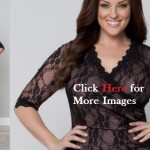 Plus size black dresses for women with sleeves Gigi Lace Cinch