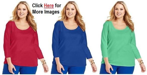 Plus size club clothes for women in red blue and green