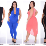 Plus size club wear for young Women - Black Blue and Pink