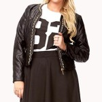 Plus size faux leather jacket for big and tall women