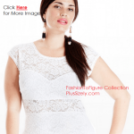 Plus size lace dresses for curvy women sleeveless