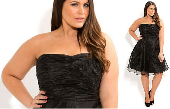 Plus size little black dress cheap Rosette Rachel