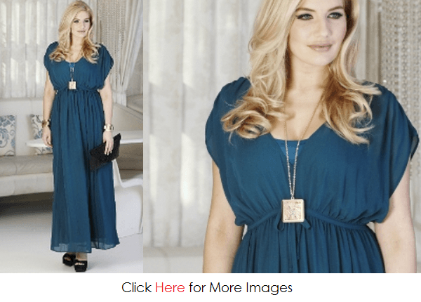 Plus size maxi dresses with short sleeves