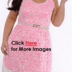 Plus size pink dresses with lace