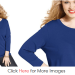 Plus size sweaters for curvy women - blue style