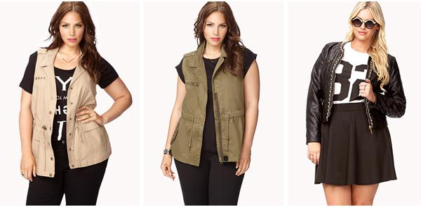 Plus size trendy outerwear for women