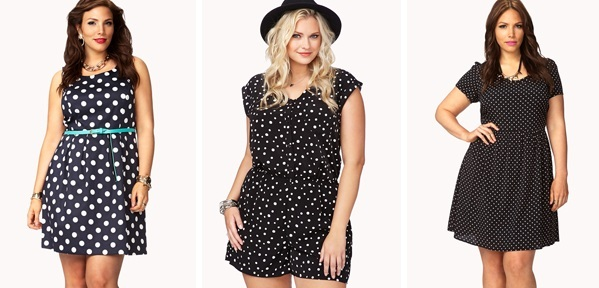 Cheap Plus Size Dresses, Forever21 Collection Polka dot ...
