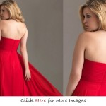 Red plus size formal wear for women Sweetheart
