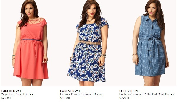 Cheap Plus Size Dresses Forever21 Collection  www.PlusSizely.com