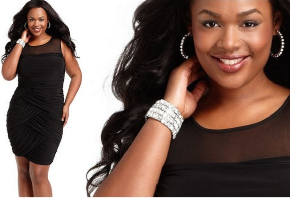 Simple black plus size dresses for special occasions Ruched Draped