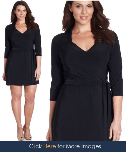 V Neck black dress with sleeves Star Vixen