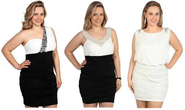 White Plus Size Club Dresses Pure Impression White Plus Size Club