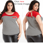White black and red plus size womens clothing