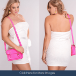 All white club party dresses for girls