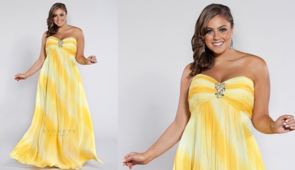 Plus Size Formal Dresses And Gowns High Low And Lady Yellow Formal