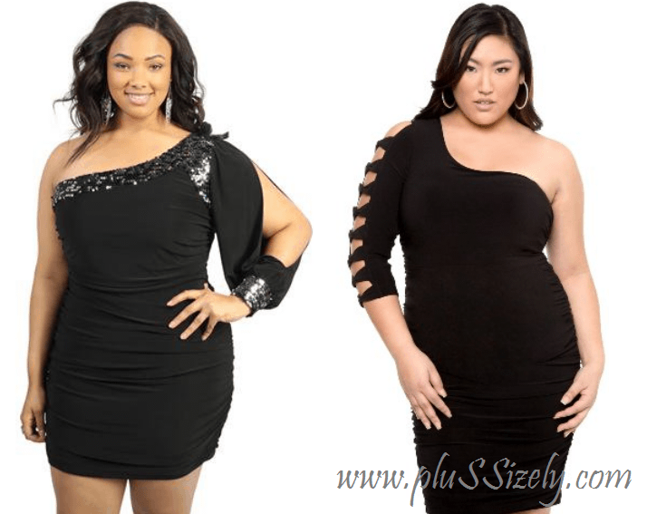 Plus Size Club Clothes Choices to Look Hot plus size one shoulder ...