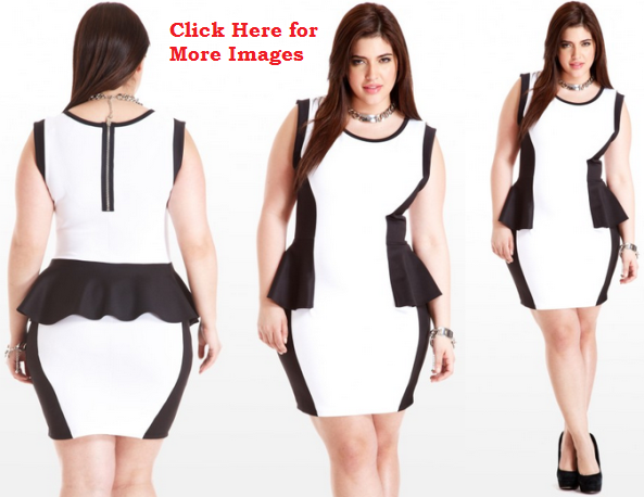 Plus Size Peplum Dresses Hide Your Fatness Plussizely