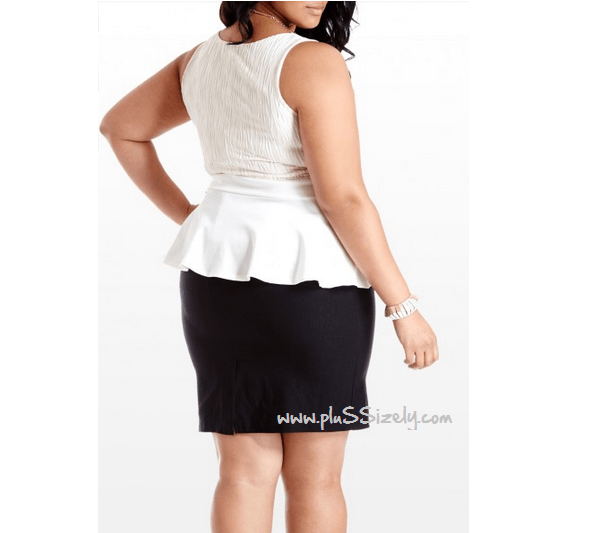 Peplum Dress for Plus size Women Image