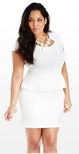 Plus Size Peplum Dresses Hide Your Fatness Peplum Dresses All White