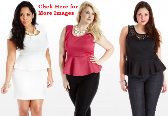 Plus Size Peplum Dresses, White, Pink Black for Clubbing, NightClub Dresses