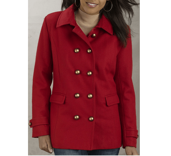 Most Wanted Red Fashioable Plus Size Fall Jackets 2013