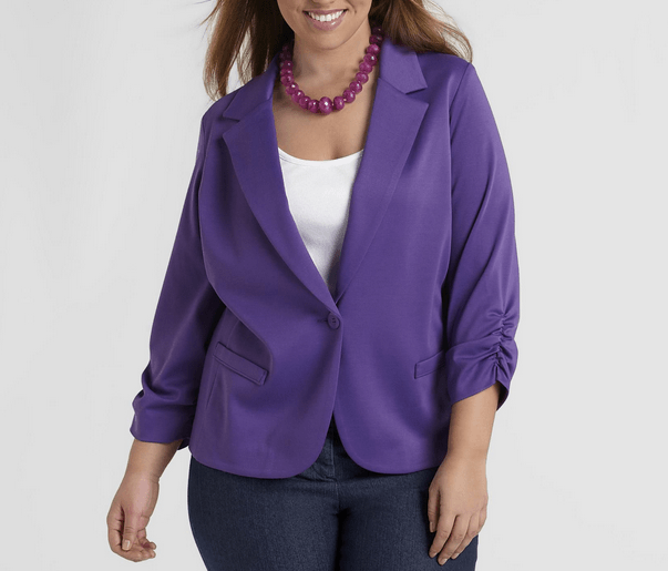 Best Choice Trendy Violet Plus Size Fall Jackets 2013