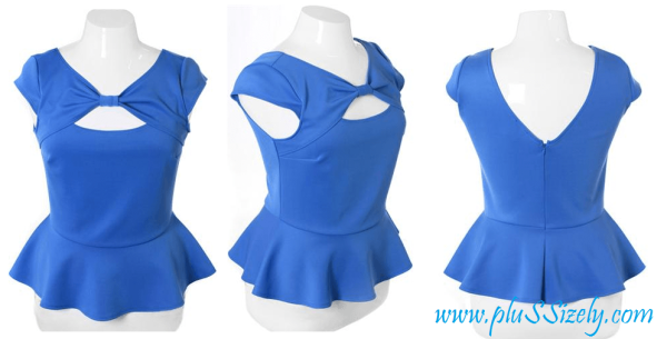 2013 Plus Size Club Dresses With Cute Peplum Design Image