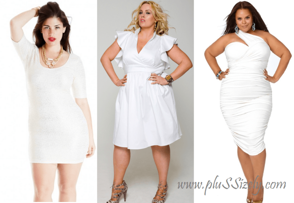 Beauty 2013 Plus Size White Club Dresses Image