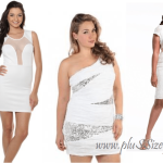 Best Party Trendy Plus Size White Club Dresses Image